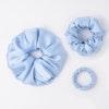 3 PCS Flower Silk Hair Scrunchies Small Medium Large Sizes Color