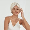 22 Momme Double Lined Silk Bonnet With Twisted Front Turban Color