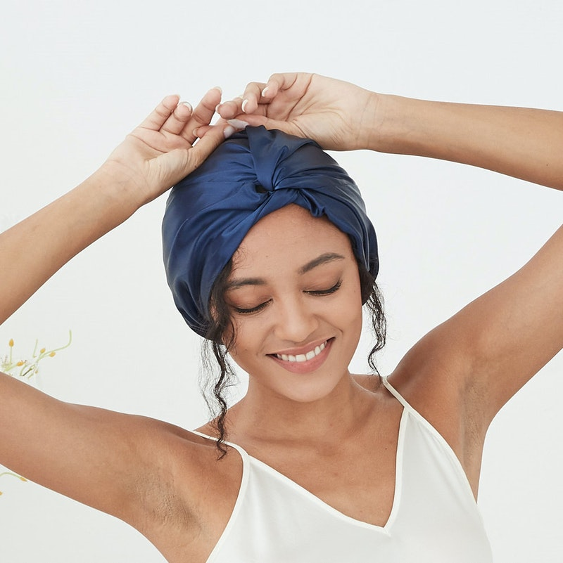 22 Momme Double Lined Silk Bonnet With Twisted Front Turban