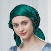 19 Momme Korean Style Silk Sleep Cap Night Head Wrap Color