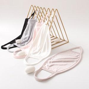 5 Packs Silk Knitted Face Masks