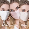 3 Pack 100 Mulberry Silk Face Mask Knitted Fabric Color