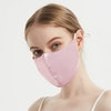100% Silk Face Mask With Nose Wire & Filter Pocket Color