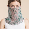 Multifunctional Silk Bandana Face Cover Neck Gaiter For Dust Sun Protection Color