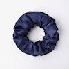 Silk Flower Hair Scrunchie Medium Size 22 Momme Color