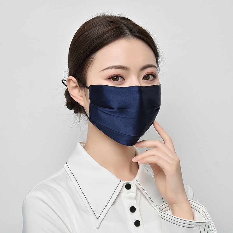 100% Silk Face Mask Double Lined With Nose Wire