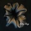 Organza Flower Silk Scrunchie MILKY WAY Color