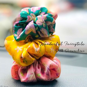 RachelSilk Art Fashion Silk Scrunchie WONDERFUL FAIRYTALE