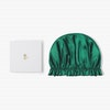 Simple 19 Momme Silk Bonnet With Frills For Sleeping  Color