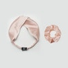 Silk Crossed Headband With Piping Color