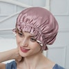 Contra Color Double Lined Silk Bonnet With Frills Color