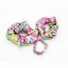 3PCS Silk Hair Scrunchies Different Size Stylish Leopard Print Floral Print Color