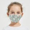 Kids Washable Silk Face Mask With Cute Print Handmade Embroidery For Toddler and Teen Color
