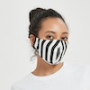 Large Printed Silk Face Mask With Stripe Dot Stars Patterns Color
