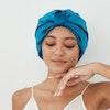 Women 19 Momme Pleated Silk Bonnet Hair Wrap Turban Style Color