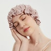 Lace Double Lined Silk Bonnet Night Sleep Cap With Frills Color