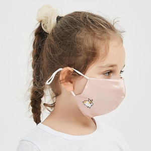 Kids Washable Silk Face Mask 3 Layer