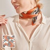 Various Fashionable Printed Square Silk Hair Scarf Head Scarf Color