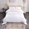 3PCS 19 Momme Silk Duvet Cover Pillowcases Set Color