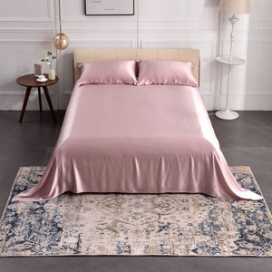 3PCS 19 Momme Silk Flat Sheet Pillowcases Set