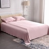 3PCS 19 Momme Silk Flat Sheet Pillowcases Set Color