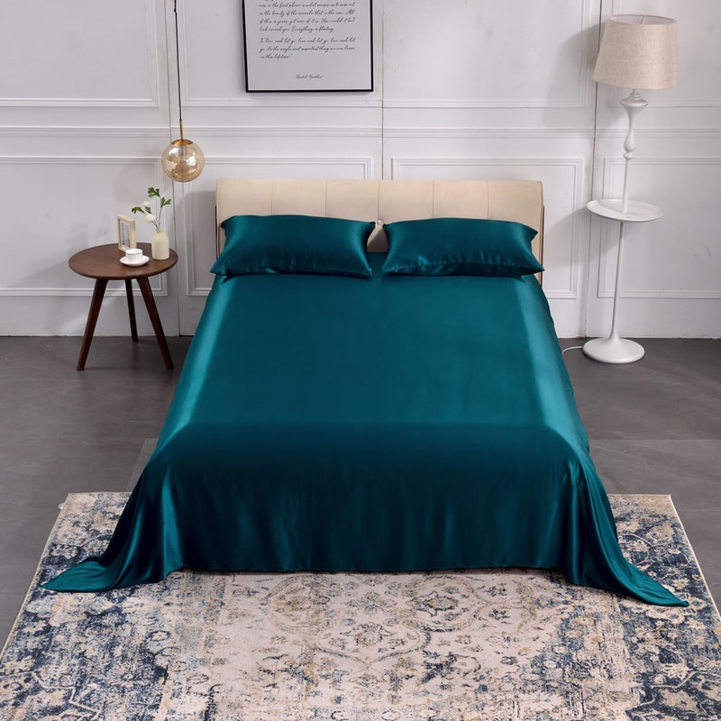 3PCS 22 Momme Silk Flat Sheet Pillowcases Set