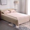 3PCS 22 Momme Silk Flat Sheet Pillowcases Set Color