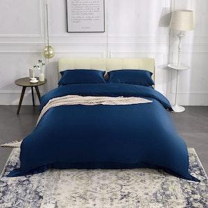 3PCS 25 Momme Silk Duvet Cover Pillowcases Set
