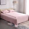 3PCS 30 Momme Silk Flat Sheets Pillowcase Set Color