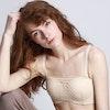 Cute Silk Balconette Bra With Lace Cover Color