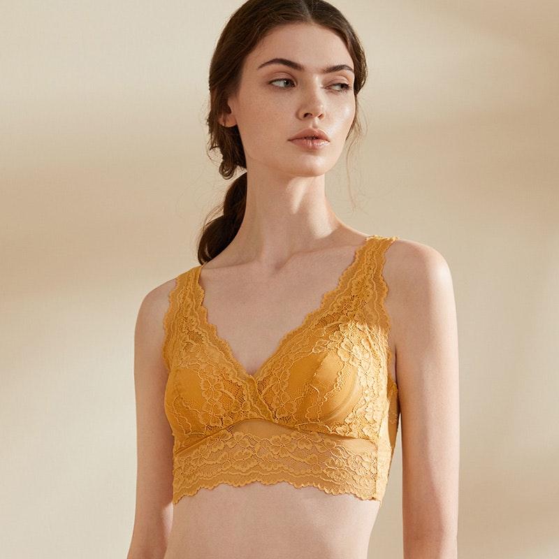 Luxurious Lacy Silk Vest Bra
