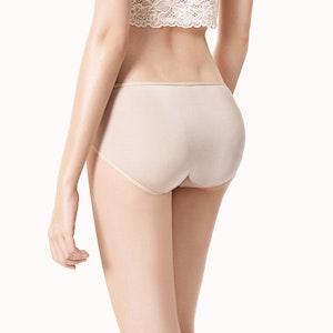 Women Low Waist Basic Silk Panty