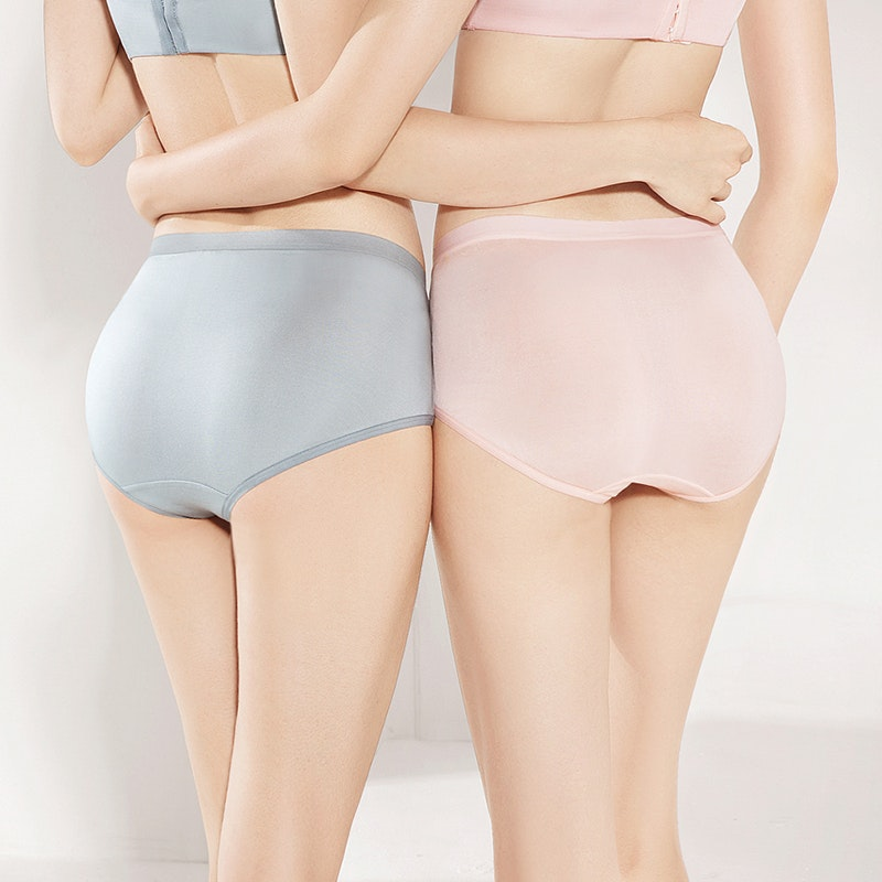 5Pack Multi Color Women Silk Knitted Panties