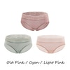 3 Pack Women Silk Knit Panties Lacy Middle Waist Color