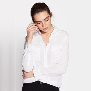 Classic Silk Shirt With Pockets