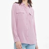 Classic Silk Shirt With Pockets Color
