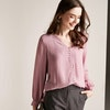 Double Layer Collarless Silk Blouse Color