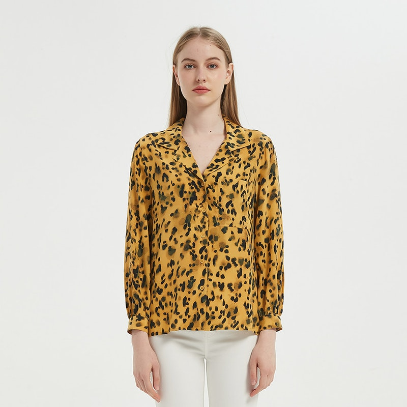 Classic Leopard Silk Shirt