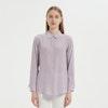 Women Versatile Long-Sleeved Everyday Silk Blouse Color