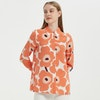 Romantic Sun Flower Printed Silk Shirt Color