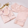 19 Momme Chic Trimmed Silk Pajamas Set Color