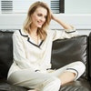 19 Momme Elegant V Neck Silk Pajamas Set Color