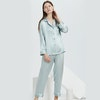 16 Momme Women Silk Pajamas Set with Piping Color