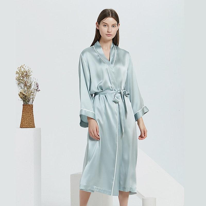 16 Momme Full Length Silk Robe