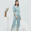 22 Momme Short Laced Silk Pajamas Set Color