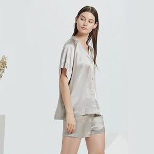 16 Momme Loose Short Silk Pajama Set