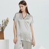 16 Momme Short Sleeve Silk Pajamas Set Color