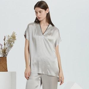 16 Momme Short Sleeve Silk Pajamas Set