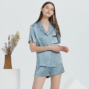 19 Momme Casual Short Silk Pajama Set