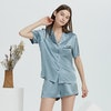 19 Momme Casual Short Silk Pajama Set Color